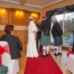 Wedding at Uphall Golf club with bride and groom