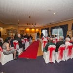 wedding guests at Uphall Golf Club