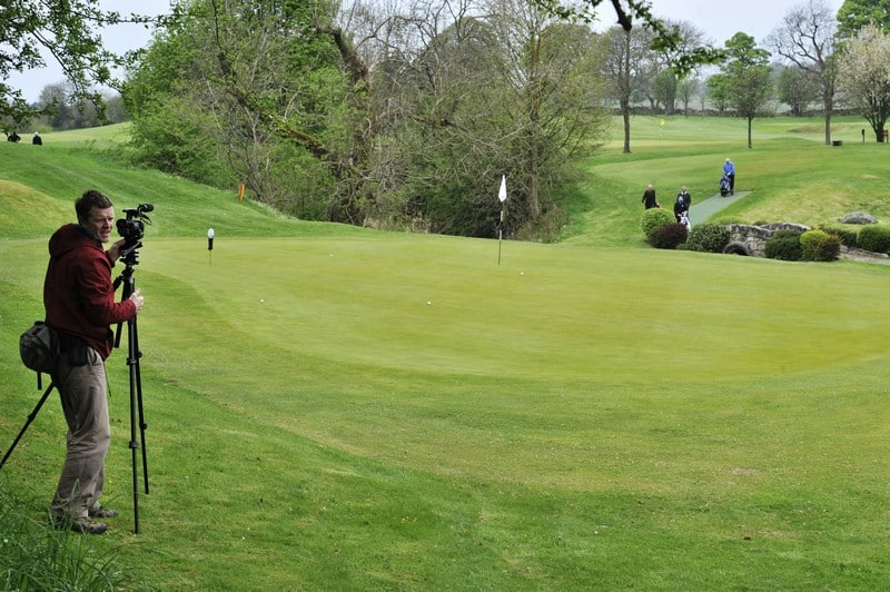 on the green at Uphall Golf Club