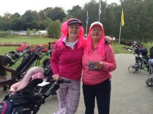 "Barbara McCrory( Uphall) and her sister C Kelly (Kilcoole) very much ""in the pink"""