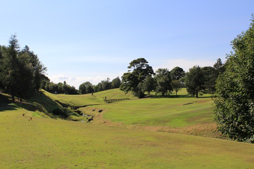 view from 3rd tee at Uphall Golf Club
