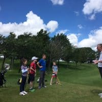 Gordon Law with Juniors at Uphall Golf Club