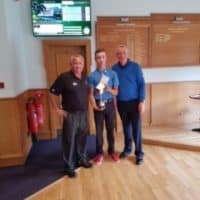 Uphall Golf Club Captain with Junior winner